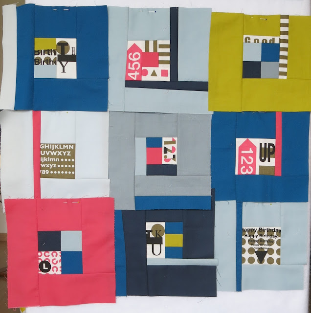 Log cabin Quilt-Along - Second try - Blocks