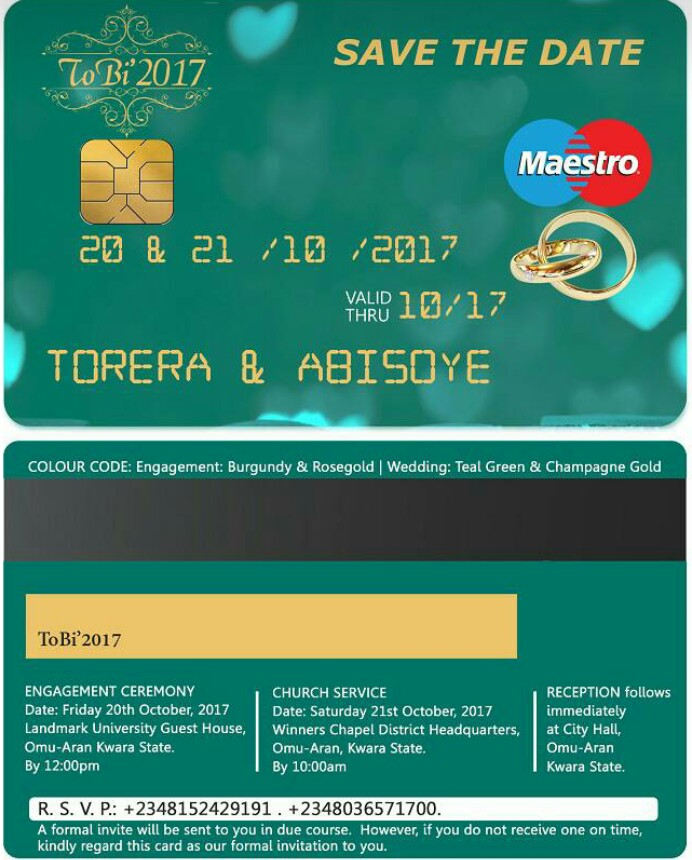 Check out this debit card atm card inspired wedding invitation check out this debit card atm card inspired wedding invitation photos stopboris Choice Image