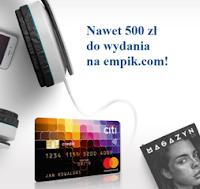voucher 300 lub 500 zł do sklepu Empik.com za kartę Citi Simplicity