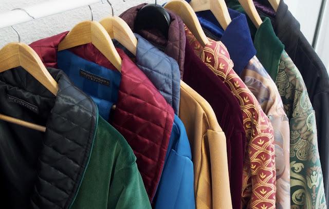 Men's Luxury Dressing Gowns With Monogram, Cotton Velvet