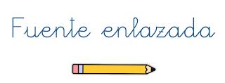 Tipografía caligráfica, fuente enlazada, tipo de letra escolar para profesores- Lectoescritura