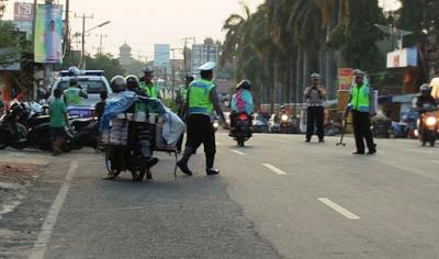 Satlantas Polresta Lampura Amankan 13 Unit Motor dan Keluarkan Puluhan Surat Tilang