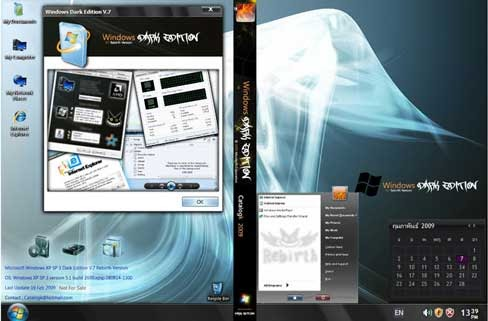 Windows xp sp3 darklite edition sata 2011 iso multi.