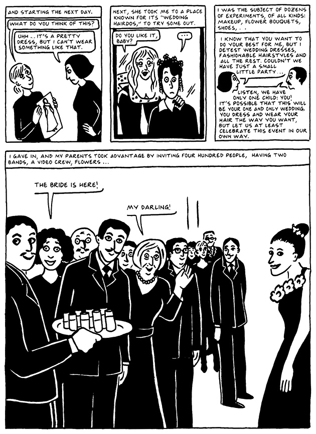 Read Chapter 17 - The Wedding, page 161, from Marjane Satrapi's Persepolis 2 - The Story of a Return