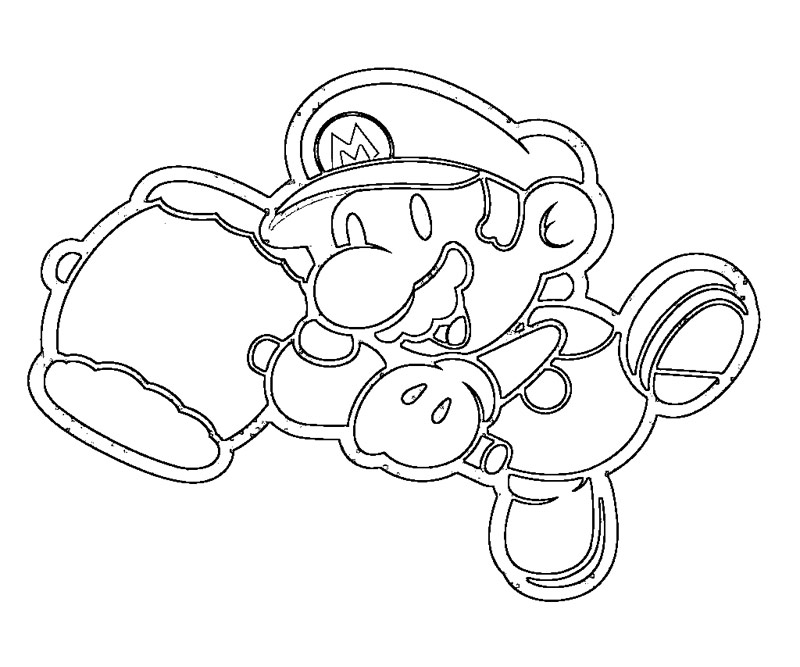 Kirby Super Smash Brothers Coloring Page
