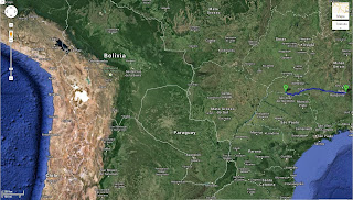 Trajeto Belo Horizonte/MG/Brasil a Itapagipe/MG/Brasil - 660 km.