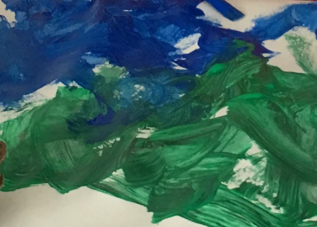 thoughts-on-saturday-toddler-painting-grass-and-sea