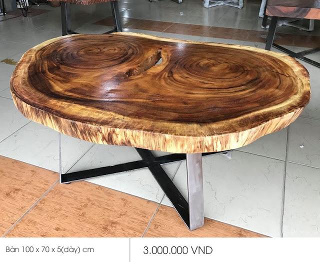 mặt bàn gỗ me tây sang trọng
