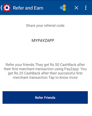 How To Refer And Earn PayZapp Rs.25 on Every Referral