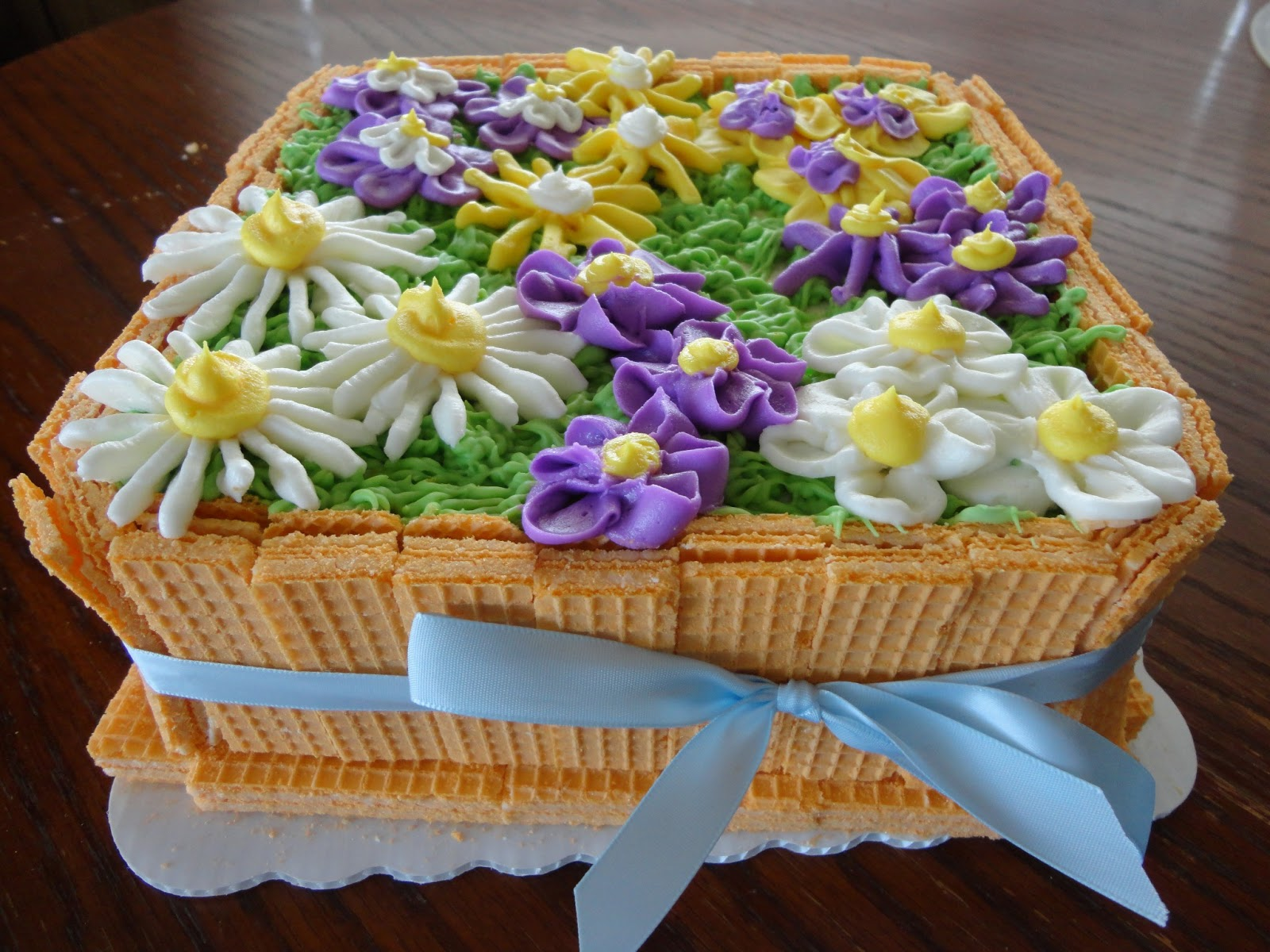 The Adventures Of J And K Easter Flower Box Cake 2013