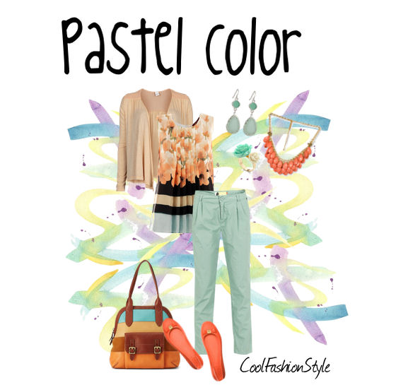 set on polyvore colori pastello