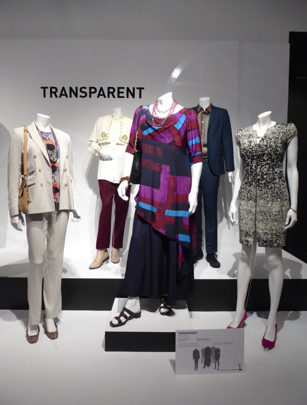 Transparent TV costume exhibit
