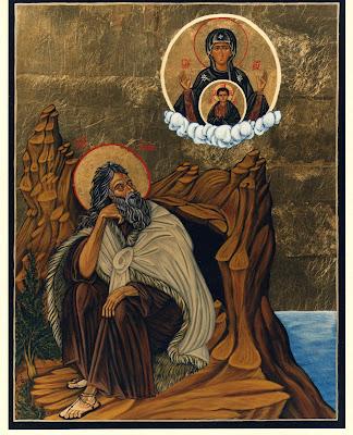En la Imagen San Elias sentado en el Monte Carmelo.