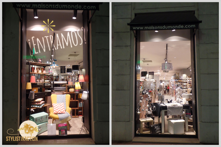 Entrada al local de Maisons du Monde centro de Lyon, imposible resistirse y seguir de largo