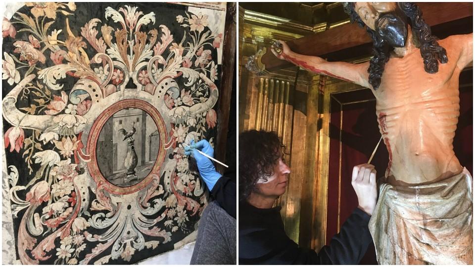 Reintegración cromática del retablo