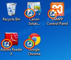 Menghilangkan Tanda Panah Pada Icon Desktop