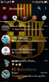 BBM Mod Barcelona v3.1.0.13 Apk Terbaru