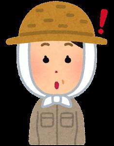 農家の女性のイラスト「ひらめいた顔」