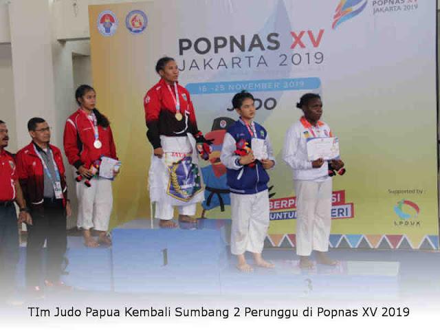 TIm Judo Papua Kembali Sumbang 2 Perunggu di Popnas XV 2019