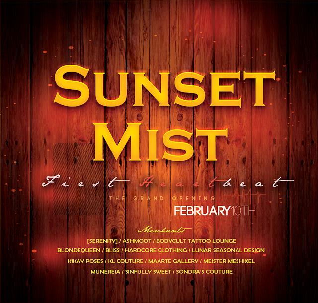 SUNSET MIST DESIGNERS OFFICIAL LIST - FEBRUARY 1OTH