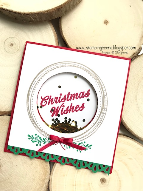 christmas card club with a swirly frames wreath