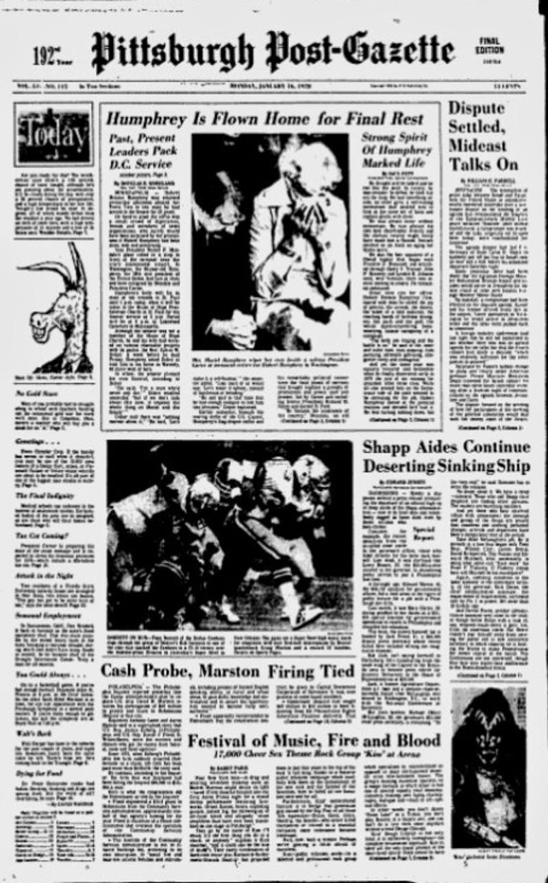 Rock & Roll Newspaper Press History: KISS - The Pittsburgh ...