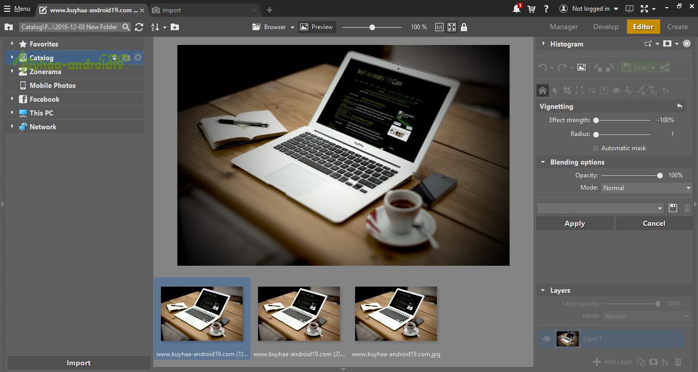 Zoner Photo Studio X screenshot