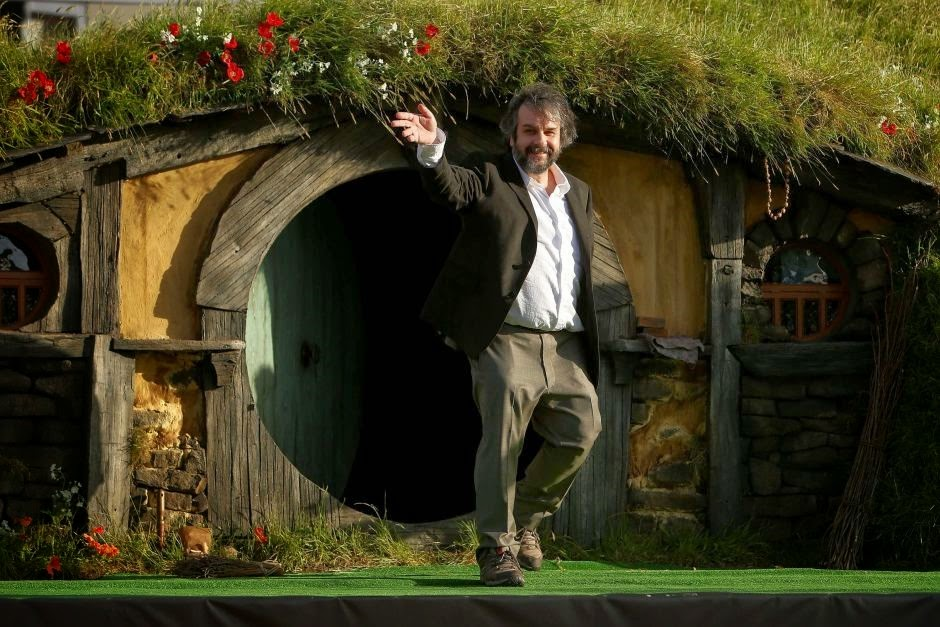 Peter Jackson With Hobbit Houses in New Zealand