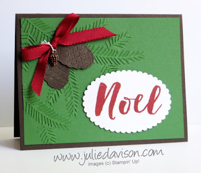 Stampin' Up! Christmas Pines Card + VIDEO with 18 Holiday Catalog Ideas #stampinup www.juliedavison.com
