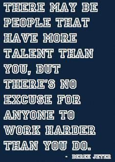 Hard work beats talent when talent doesn't work hard #interestingsportsmemes