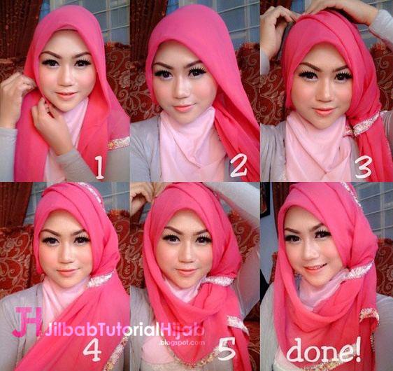 Kumpulan Gambar Tutorial Cara Memakai Hijab Kumpulan Gambar Tutorial Cara Memakai Hijab 1