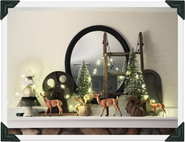A Beautiful Christmas Mantel With My Favorite Things www.homeroad.net