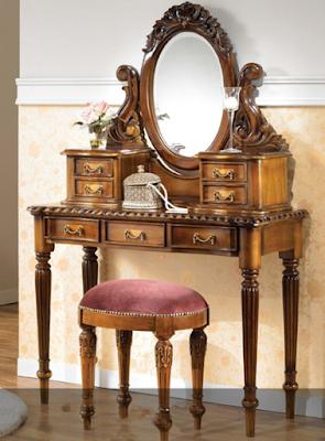 meja rias model kuno