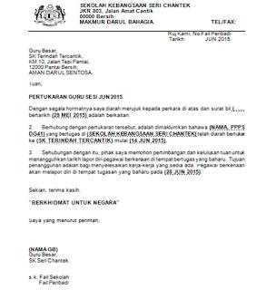 Contoh Surat Rayuan Kerja Kerajaan Kuora H