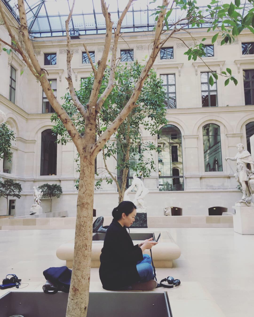 Statue courtyard inside Louvre