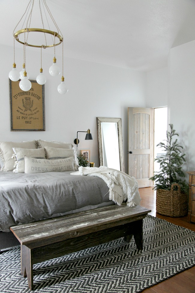 Beautiful modern farmhouse bedroom