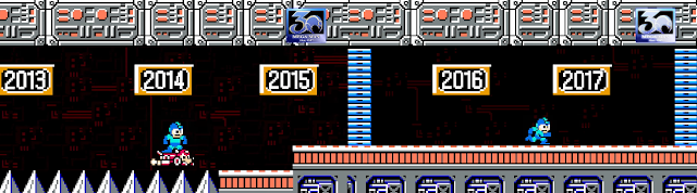 Mega Man 30th anniversary Rush Jet 2013 2014 2015 2016 2017 Wily's Castle