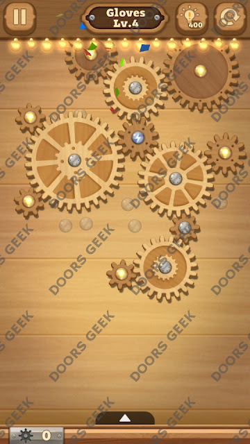Fix it: Gear Puzzle [Gloves] Level 4 Solution, Cheats, Walkthrough for Android, iPhone, iPad and iPod