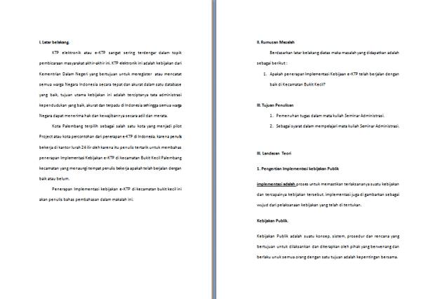 Contoh Makalah Tentang E-KTP (Implementasi Kebijakan E-KTP)