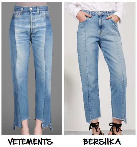 Clon Jean Vetements Bershka