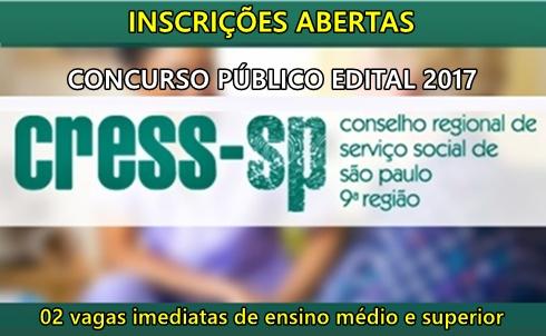 Concurso Cress-SP - Conselho Regional de Serviço Social de São Paulo