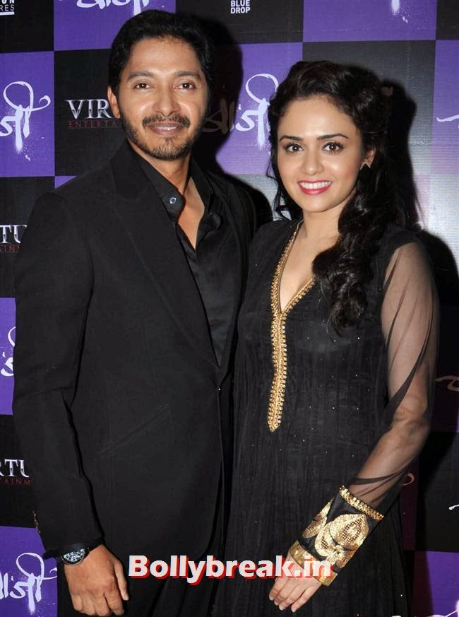 Amruta Khanvilkar  and Shreyas Talpade, Amruta  & Shreyas at Marathi Film Baji Launch