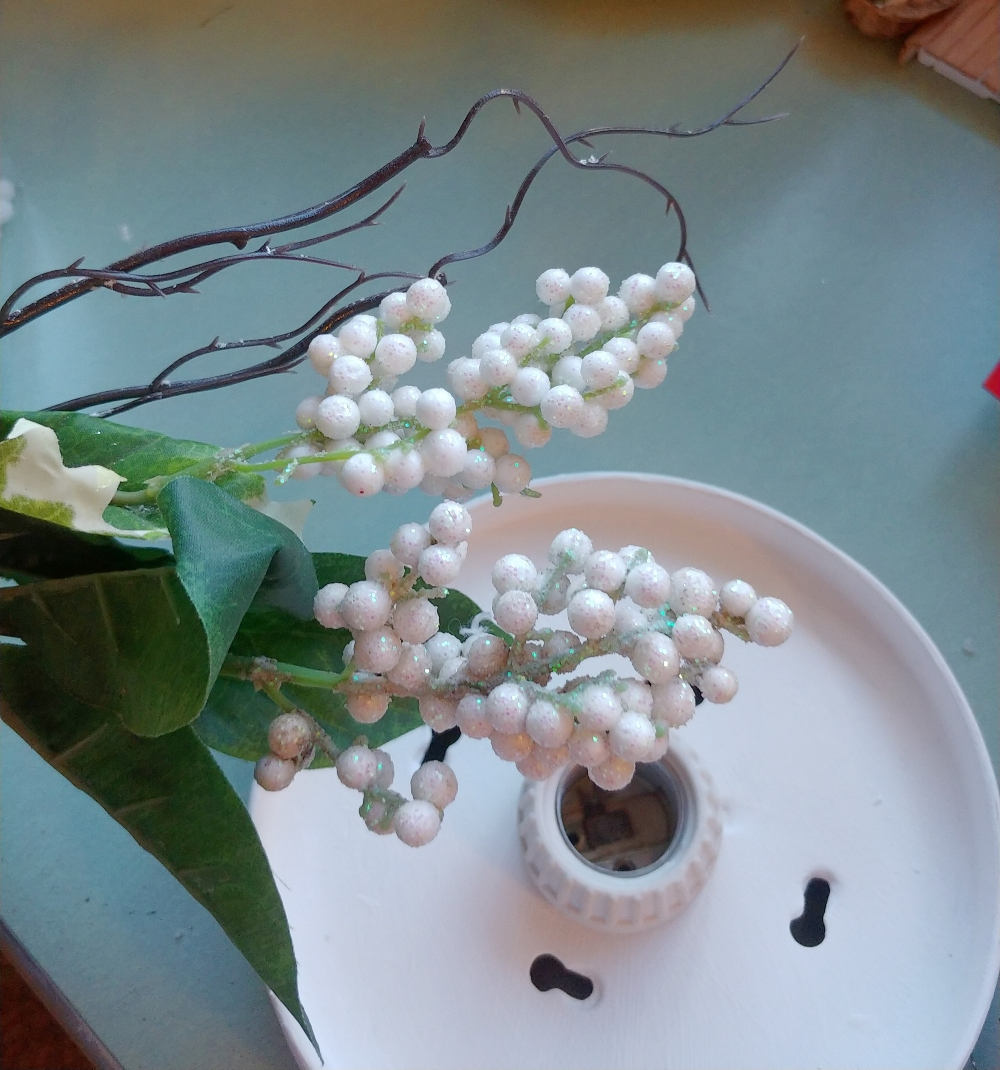 faux winter white berries