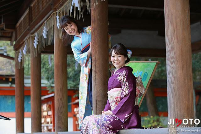 京都で成人式の前撮りロケーション撮影