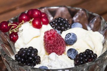 مثلجات الشوكولاته والفواكه