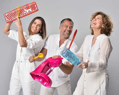 Deborah Secco, Malvino Salvador e Patricia Pillar — Foto: Fábio Rocha/TV Globo