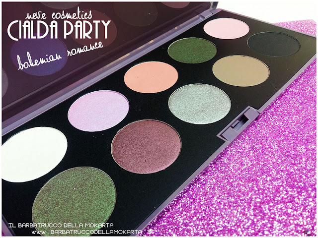 bohemian romance neve cosmetics cialda party review recensione makeupey eshadow