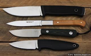 Fallkniven F1, Tonife HKT3103, Bolte Scout and Fallkniven WM1