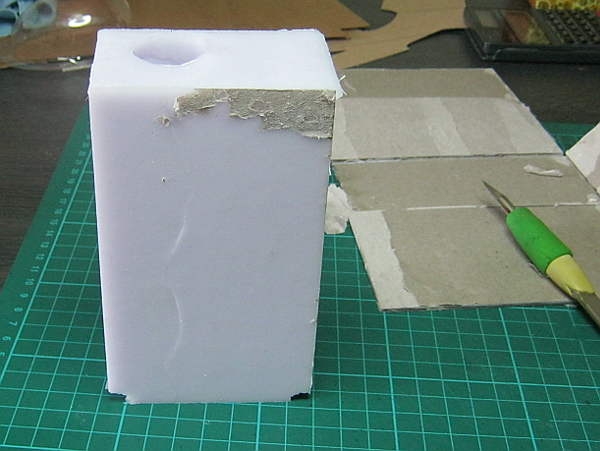 making a mould from a doll's leg