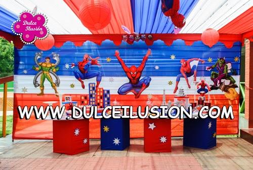 Decoracion Fiesta Infantil De Spiderman Dulce Ilusion Dulce - Adornos-fiesta-infantil